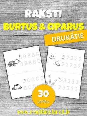 Raksti BURTUS & CIPARUS