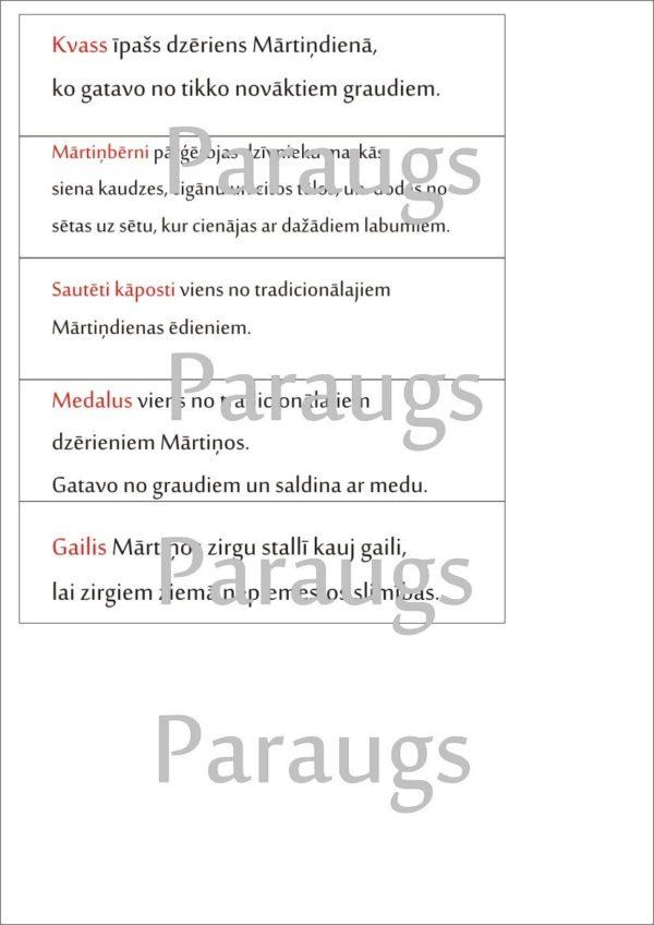 Definīciju grāmatiņa MĀRTIŅI