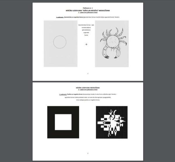 """Mācību satura izpēte vizuālajā mākslā. Tēma """"FORMA"""""""