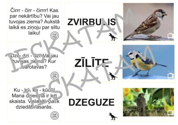 """Īsi teksti varenai lasīšanai """"Putni"""""""