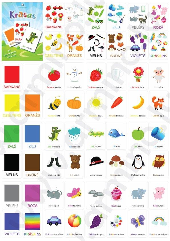 """Kartītes """"Krāsas"""""""