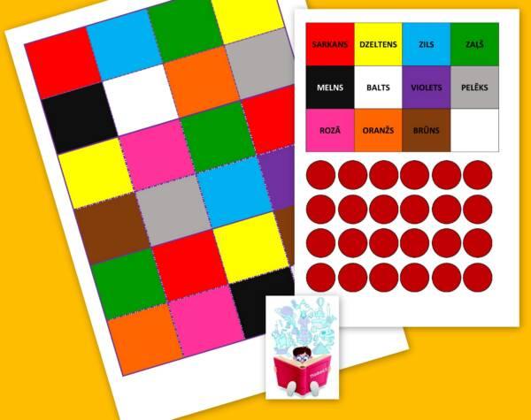 Krāsu bingo spēle