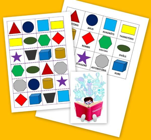 Ģeometrisko formu bingo