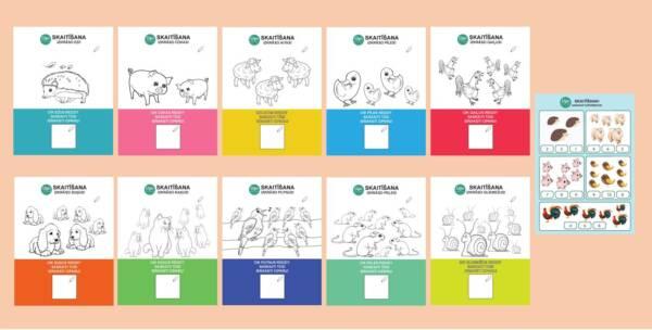 Darba lapas «Skaitīšanas prasme 1 – 10» 🔢