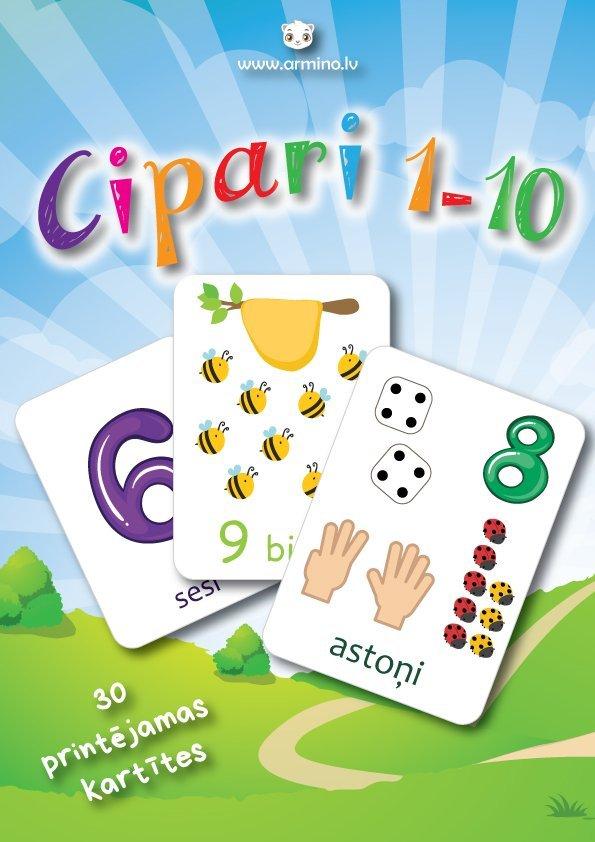 """Kartītes """"Cipari 1-10"""""""