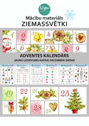 """Mācību materiāls """"ZIEMASSVĒTKI-adventes kalendārs"""""""