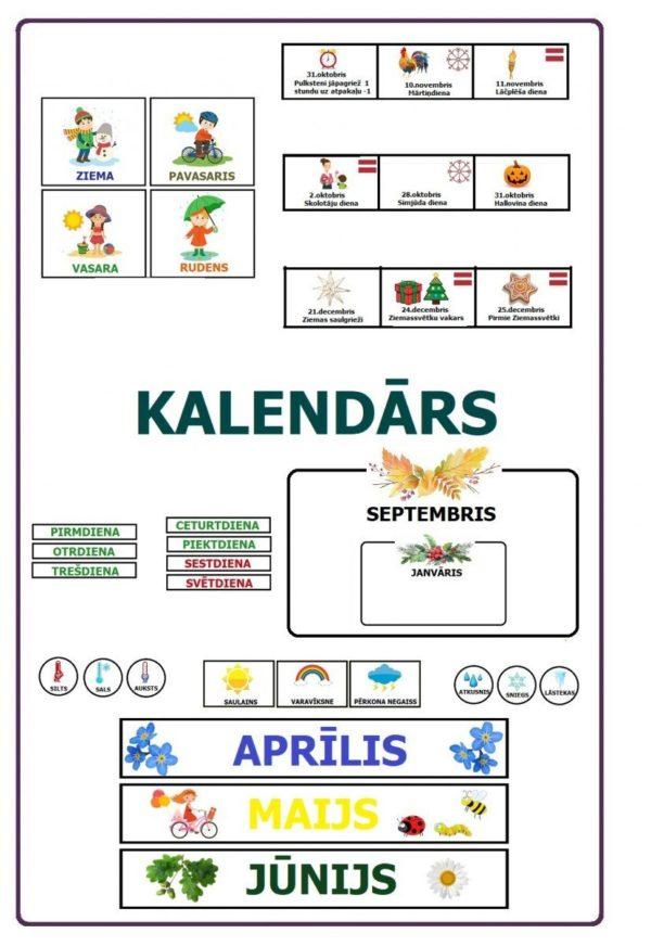 DARBA LAPAS – Kalendārs