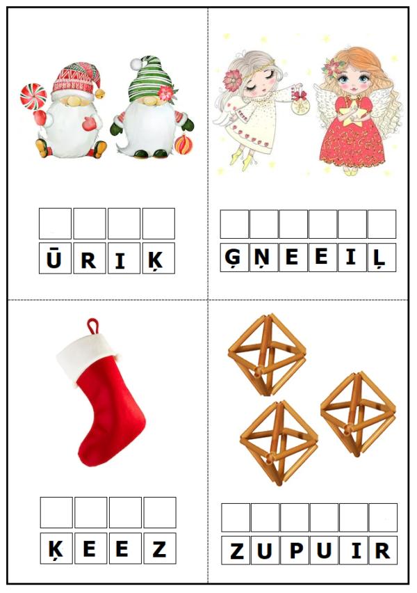 DARBA LAPAS – Ziemassvētku tradīcijas un simboli