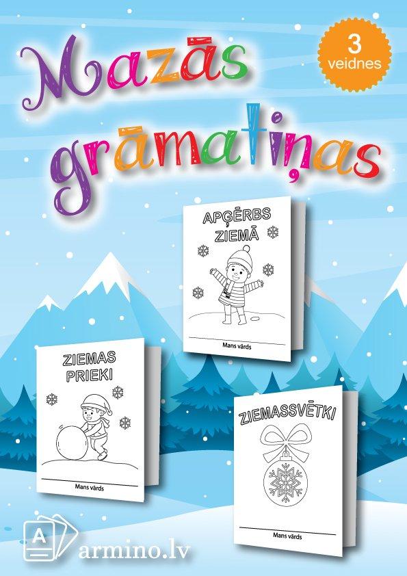 """Krāso un veido grāmatiņas """"Ziema un Ziemassvētki"""""""