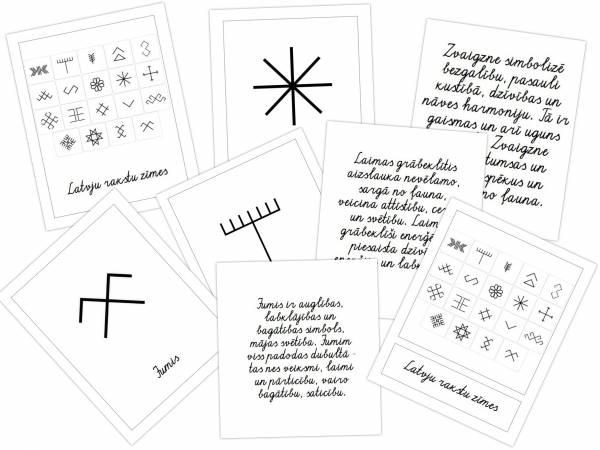 Latvju rakstu zīmes ar aprakstiem – rakstītie burti