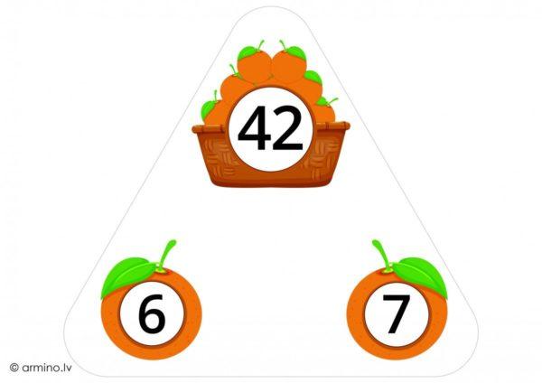 """A4 kartes """"Reizrēķins trijstūros"""""""