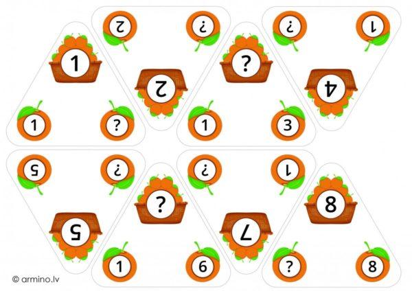 """Trijstūri knaģiem """"Reizrēķins"""""""
