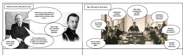 Komikss – Latvijas okupācija