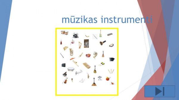 Interaktīvs materiāls Mūzikas instrumenti