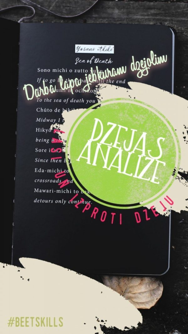 Dzejas analīzes darba lapa jebkuram dzejolim