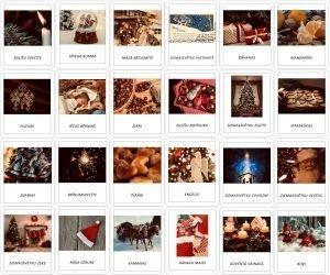 24 Ziemassvētku simboli – Adventes kalendārs -DRUKĀTIE BURTI