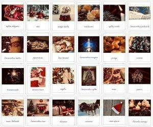 24 simboli – Adventes kalendārs – krāsaini rakstītie burti