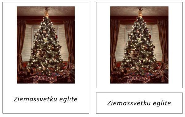 24 Ziemassvētku simboli – Adventes kalendārs – iespiedburti