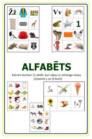 KARTĪTES – ALFABĒTS – Rakstītie un drukātie burti