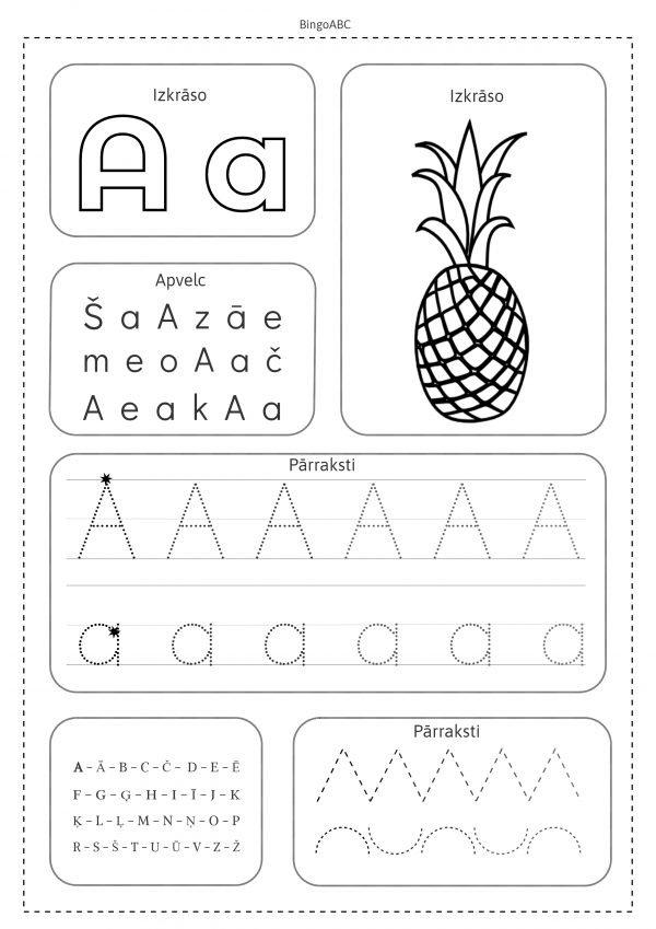 BingoABC mācās rakstīt burtus