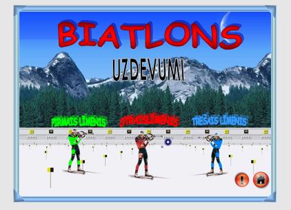 Biatlons – matemātiska spēle