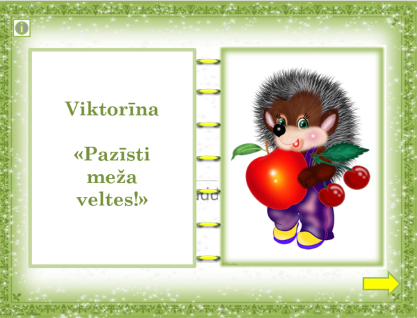 "Viktorīna ""Pazīsti meža veltes!"""