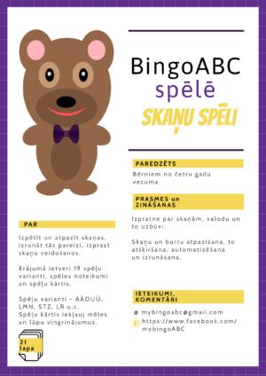 BingoABC spēlē skaņu spēli