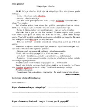 """""""Stūrgalvīgais zilonēns""""DL Apzinātas lasītprasmes pilnveidei"""