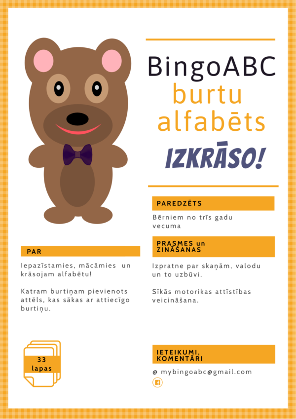 BingoABC burtu alfabēts – izkrāso!