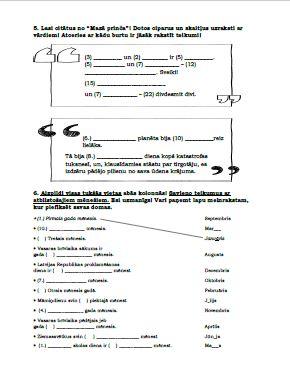 DL – pamata un kārtas skaitļa vārdi 3. klasei