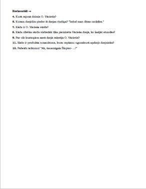 Ojārs Vācietis un dzeja – krustvārdu mīkla 3. klasei