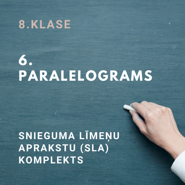 """SLA komplekts 8.klasei """"6.Paralelograms"""" (4 SLA)"""