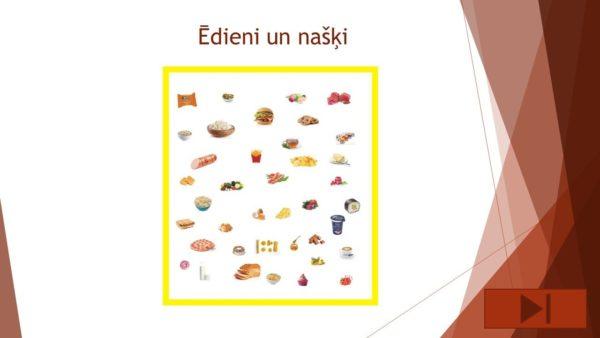 Interaktīvs mācību līdzeklis – Ēdieni un našķi