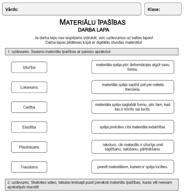 Materiālu īpašības (3. – 4. kl.)