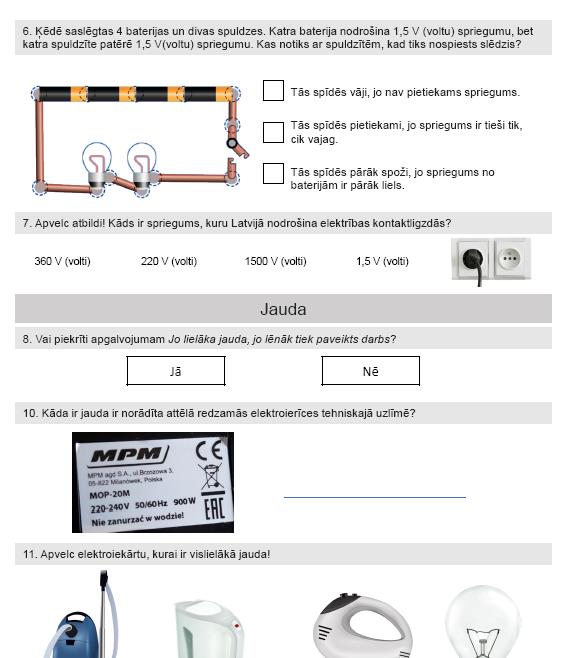 Elektroenerģijas raksturlielumi (5. – 6. kl.)