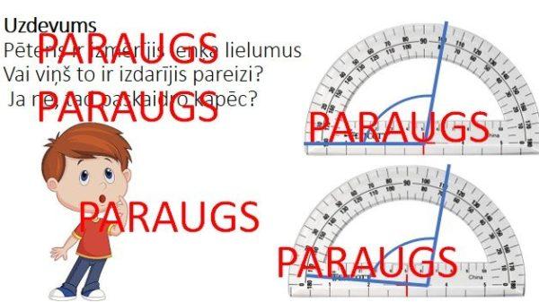 Leņķi daudzstūros. Matemātika.4.klase