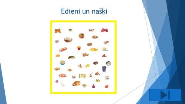 Interaktīvs mācību līdzeklis – Ēdieni un našķi definīcijas