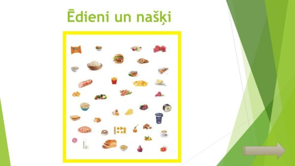Ēdieni un našķi – interaktīvs materiāls