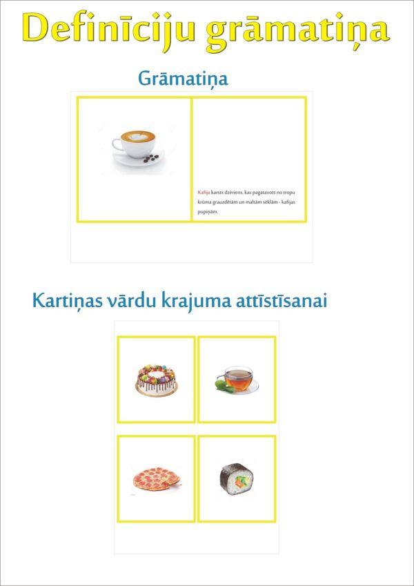 Ēdiens un našķi – definīciju grāmatiņa