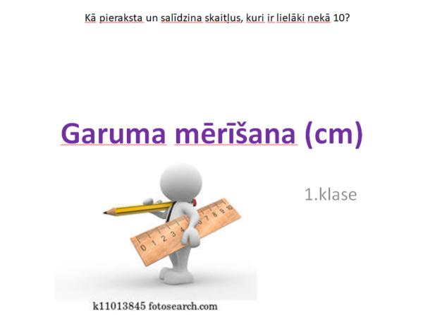 1.k. Garuma mērīšana cm, dm. Prezentācija