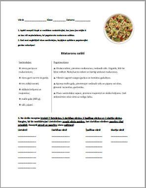 Gatavojam vārdšķiru salātus latviešu valodai