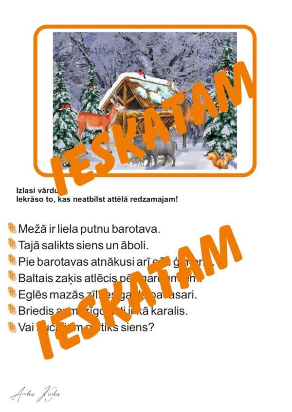 """Īsi teksti varenai lasīšanai """"Mežs ziemā"""""""