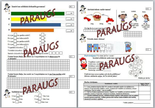 1.5.temata noslēguma pārbaudes darbs matemātikā 1.klasei