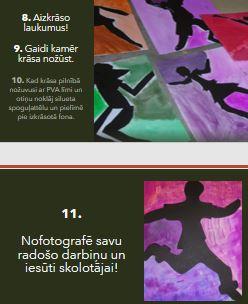 Vizuālā māksla 2.klasei – Cilvēku siluets kustībā.