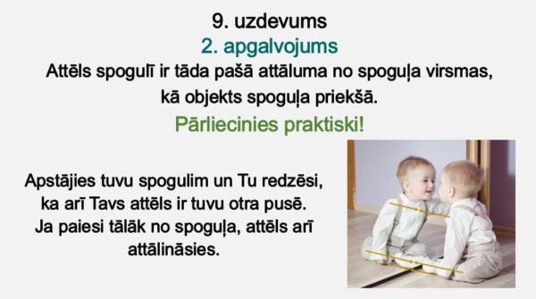 Gaismas rašanās un attēli plakanos spoguļos (4.- 5. kl.)