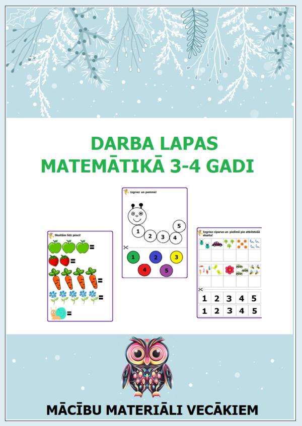 Darba lapas matemātikā 3-4 gadi