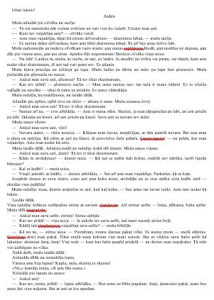 Astes – DL Apzinātas lasītprasmes pilnveidei