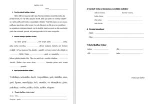 Īpašības vārds – darba lapa 3.,4. klasei