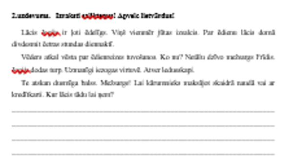 Vārda sastāvs – darba lapa 3.,4. klasei