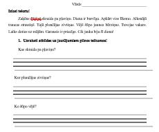 DL Teikumu veidošana 1.klase